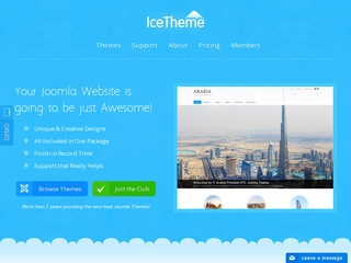 Top joomla club template maker - IceTheme