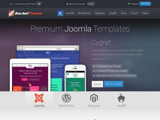 Top joomla club template maker - RocketTheme