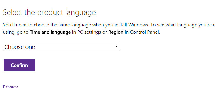 select language for windows 10 iso download