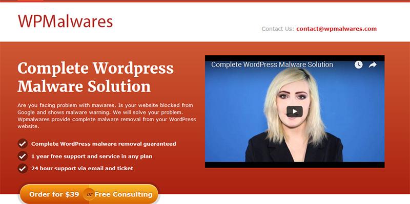 wpmalwares.com WordPress Malware removal