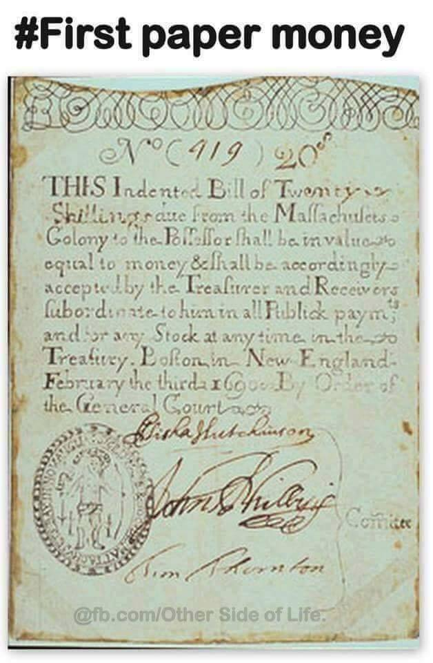 First Paper note / currency