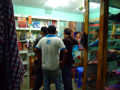 Shopping at a local market in Bandarban