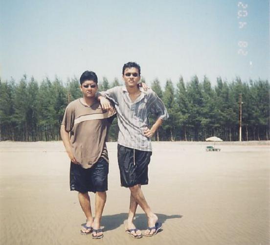 Babu and myself at the Beach