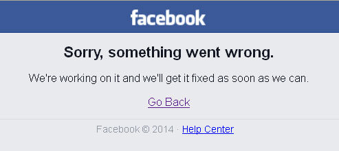 facebook unavailable - january 2015