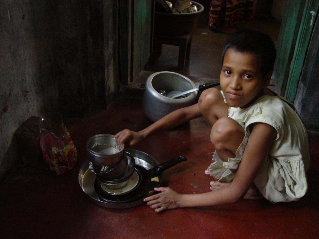 child labor - servant