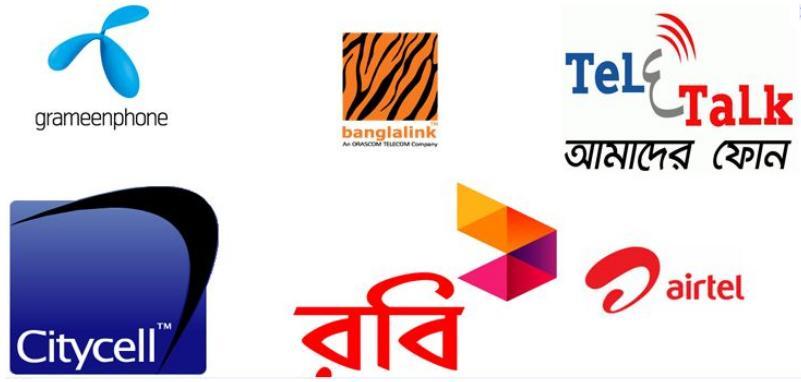 Bangladesh mobile phone operators grameenphone banglalink robi airtel teletalk citycell own number