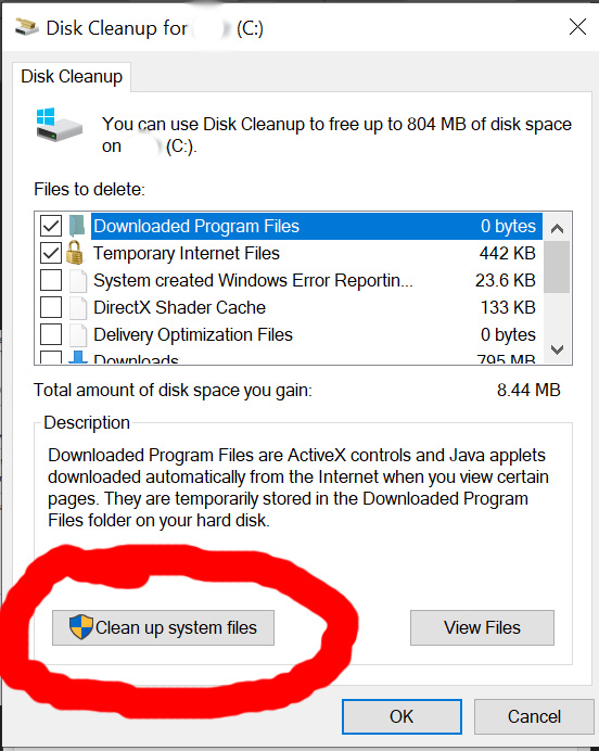 windows 10 cleanup system files