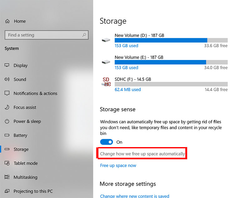 windows 10 storage sense delete windows.old folder