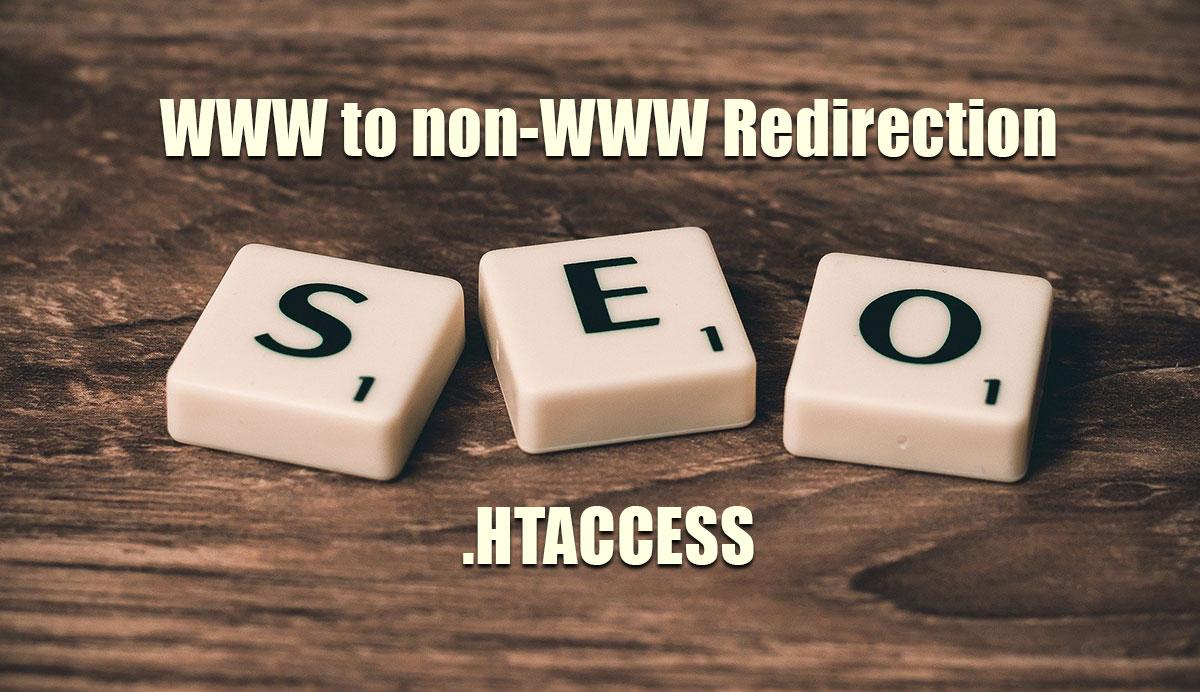 redirect www to non www url htaccess